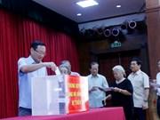 旅外越南人为国内受灾群众开展捐款活动