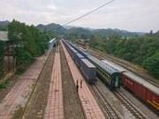 首趟中国至越南河内集装箱货运班列抵达
