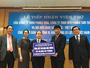 韩越友好协会及韩企向遭受自然灾害影响的越南灾民提供援助