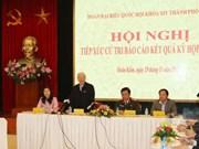 越共中央总书记阮富仲接待河内市选民