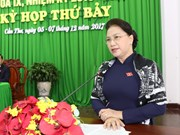 国会主席阮氏金银:充分发挥资源优势把芹苴市建设成为九龙江平原的核心城市