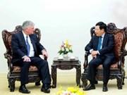 越南政府副总理兼外交部长范平明会见善普施国际救援组织会长