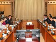 胡志明市领导会见世行副行长劳拉·塔克