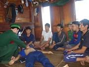 平定省6名遇险渔民已安全上岸