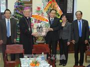 越南祖国阵线中央委员会主席陈青敏走访岘港教区祝贺圣诞