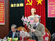 陈国旺与林同省领导就当地经济社会发展情况和党建举行工作会议