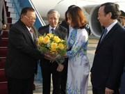 老挝人民革命党中央总书记、国家主席开始对越南进行正式友好访问