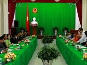 芹苴市领导会见柬埔寨宗教部代表团