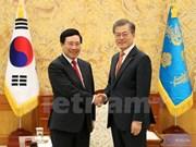 政府副总理兼外长范平明会见韩国总统和总理   同韩国外长举行会谈