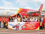 越捷航空公司接收首架A321neo飞机
