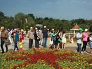 2017年大叻国际花卉展吸引逾6万名游客前来参观