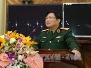 越南高级军事代表团对老挝进行正式访问