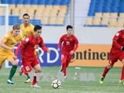 2018年U23亚洲杯D组:越南U23足球队1-0击败澳大利亚U23足球队
