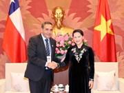 越南国会主席阮氏金银会见智利众议院议长