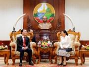老挝国会主席高度评价老挝国会大厦工程项目施工前期筹建准备工作