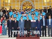 政府总理阮春福会见越南U23球队 授予球队一等劳动勋章