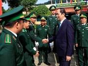 国家主席陈大光到昆嵩省开展走访慰问活动