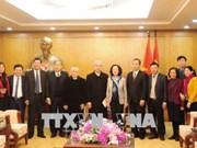 越共中央民运部部长张氏梅:天主教信教群众为国家的发展做出重要贡献