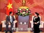 越南国会主席阮氏金银会见前来辞行拜会的中国驻越大使洪小勇