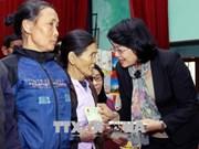 国家副主席邓氏玉盛春节前走访慰问太平省和南定省贫困群众