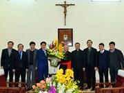 越南领导人春节前走访宗教团体和宗教活动场所