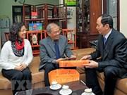 国家主席陈大光给河内市知识分子的杰出典范拜年