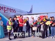 新春伊始岘港和老街喜迎第一名游客