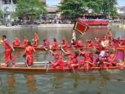 河内市首次举行传统龙舟赛