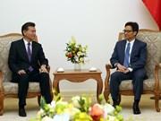 越南政府副总理武德儋会见世界国际象棋联合会主席柳姆日诺夫