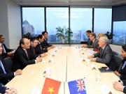 越南政府总理阮春福会见奥克兰市市长菲尔·高夫