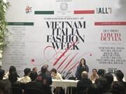 庆祝越意建交45周年之2018年越南-意大利秋冬时装周在河内举行
