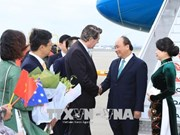 阮春福前往澳大利亚悉尼市出席东盟—澳大利亚特别峰会