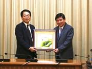 胡志明市希望与JICA合作展开重点项目