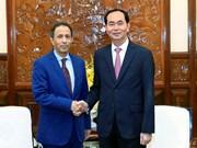 陈大光主席会见前来辞行拜会的阿拉伯联合酋长国驻越南大使