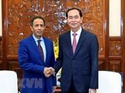 国家主席陈大光会见前来辞行的沙特阿拉伯驻越大使约哈尼