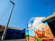 春色多彩的广平省景阳壁画村
