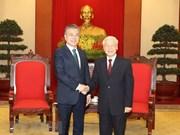 阮富仲总书记会见韩国总统文在寅