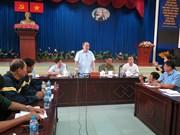 胡志明市市委书记阮善仁亲自慰问火灾事故受灾家庭