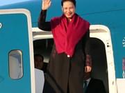 越南国会主席阮氏金银抵达瑞士日内瓦 开始出席IPU-138