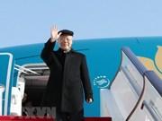 越共中央总书记阮富仲启程对法国进行正式访问