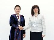 国会主席阮氏金银会见保加利亚国民议会议长采茨卡·察切娃