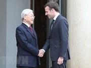 阮富仲总书记向法国总统埃马纽埃尔·马克龙致感谢电