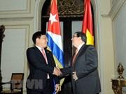 越南政府副总理兼外长范平明与古巴外长罗德里格斯进行会谈