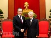 越共中央总书记阮富仲会见中国国务委员兼外交部长王毅