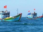 助力广治省渔民恢复生产并安心出海捕鱼