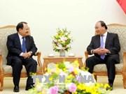 政府总理阮春福会见老挝能源与矿产部长坎马尼