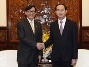 国家主席陈大光会见前来辞行拜会的泰国驻越大使旺帕迪