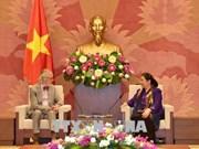 越南国会常务副主席丛氏放会见各国议会联盟前秘书长安德斯