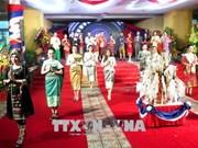 老挝留学生欢度老挝传统新年
