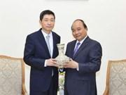 阮春福总理会见即将离任前来辞行拜会的韩国驻越大使